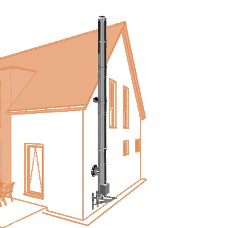 Edelstahlschornstein Bausatz EASY DW 180 6,2m 0-6